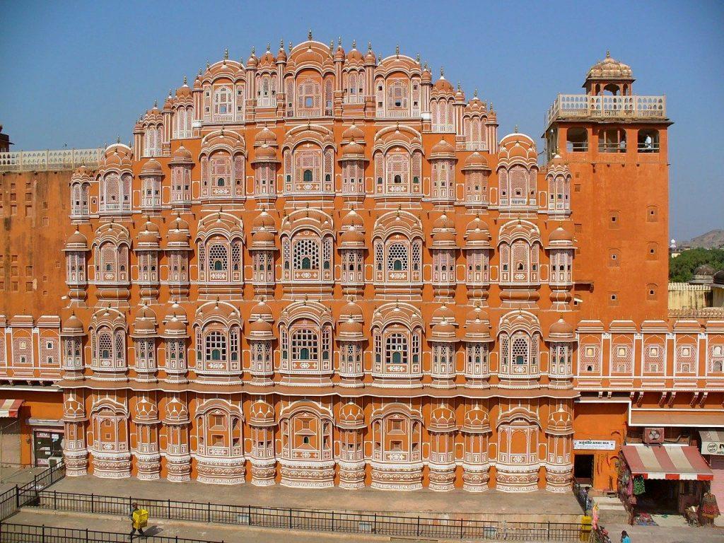 palace of winds, india, jaipur